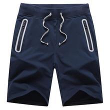 Summer 2017Outdoor Men's Short Trousers Straight Shorts Men bermuda homme Zipper Pocket Elastic Waist slim fit Plus Size M-XXXL