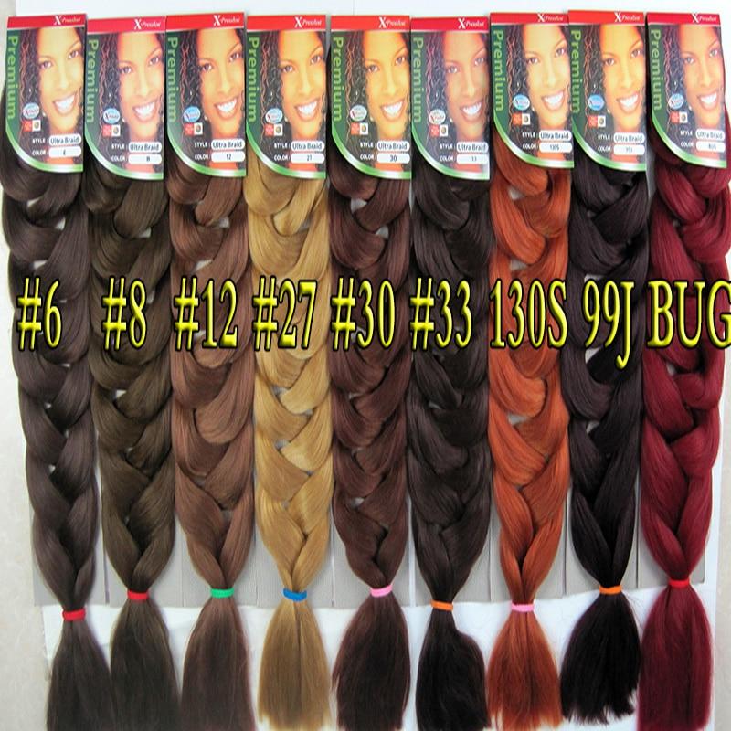 Aliexpress Buy 82 25 Colors Synthetic Braiding Hair Extension Bulk Crochet Box Braids Hairstyles Black Purple Blue High Temperature Fiber From