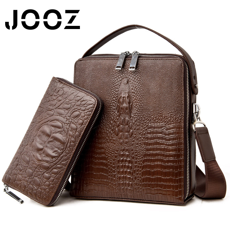 JOOZ Genuine Leather Bag top-handle Men Bags Male Shoulder Crossbody Bags Messenger Small Flap Casual Handbags Men 2Pcs Set Bag joyir 2017 genuine leather male bag men bags small shoulder crossbody bags handbags casual messenger flap men leather bag 8671