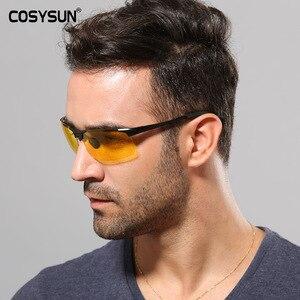Image 3 - Men Aluminium Alloy Night Vision Goggles Safe Driving Women Polarized Sunglasses Mens Car drivers Glasses Night Sunglasses