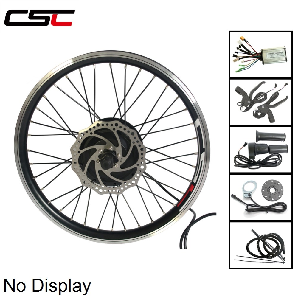 36V Electric Mountain Bike Conversion Kit with 250W 350W 500W Brushless Gear Hub Motor Controller PAS