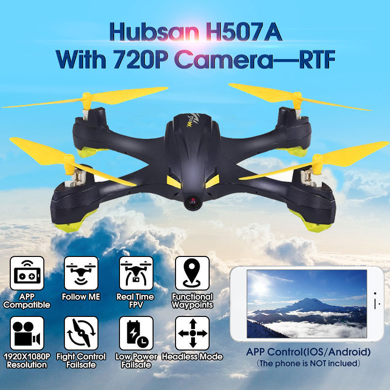 Hubsan H507A X4 RC Quadcopter with Camera Wifi Pro APP Driven Drone with Camera GPS RC Quadcopter FPV Helicopter RTF Drone qz s8 pro wifi fpv rc quadcopter rtf black