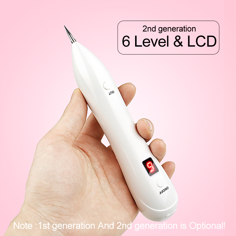 6 level LCD Plasma Pen Portable Face Skin Dark Spot Remover Laser Mole Wart Removal Tattoo Freckle Removal Facial Tag Plasma Pen