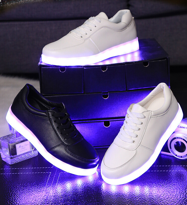 Light children basket LED colorful shining chaussure enfant USB charging boys girls sneakers kids led luminous shoes губка для тефлона york лиза цвет серебряный