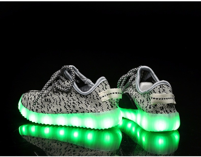 2016 NEW Children Luminous Sneakers USB Charging Kids LED Luminous Shoes Boys Girls of Colorful Flashing Lights Sneakers (10)