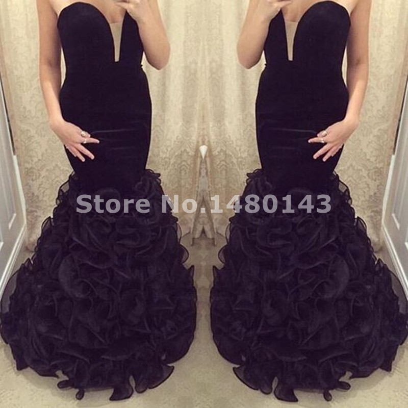 Popular Plus Size Red Mermaid Prom Dress-Buy Cheap Plus Size Red ...
