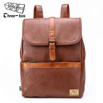Three Box New Men Women Fashion Backpack High Quality Retro Casual Large Capacity Male 14-inch Tote Student Bag Travel Backpack - DISCOUNT ITEM  28 OFF Luggage & Bags