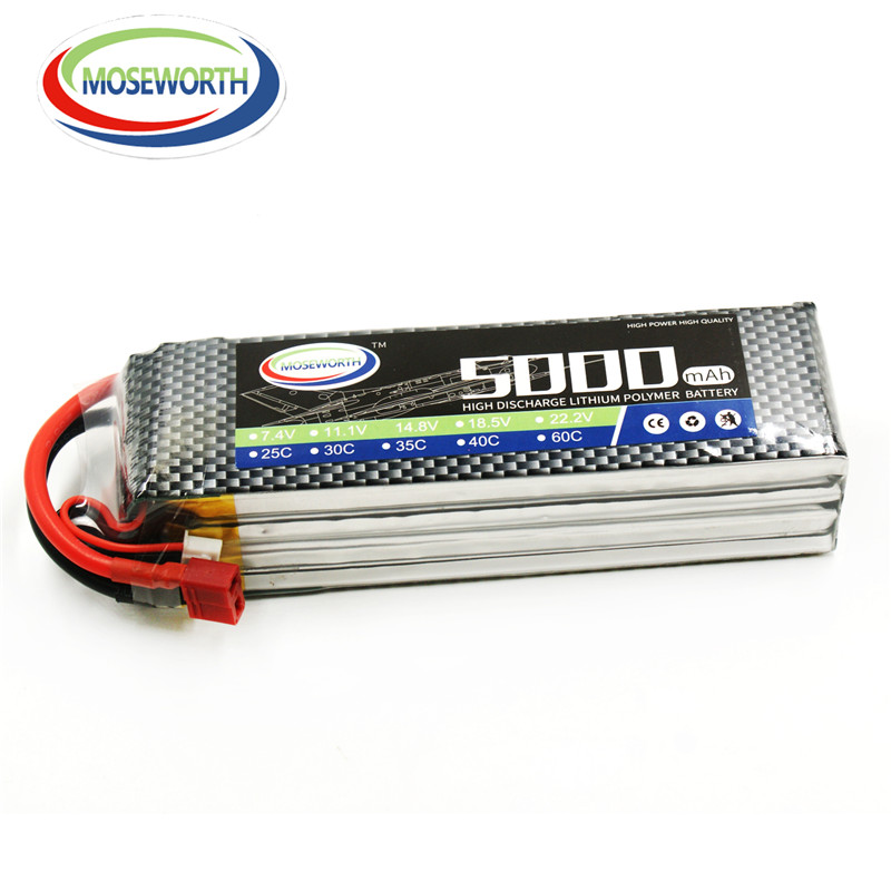 MOSEWORTH 4S RC lipo Battery 4S 14.8V 5000mAh T/XT60 60C lipo battery for RC modlel Aircraft Quadcopter Helicopter RC Drone AKKU 3pcs battery and european regulation charger with 1 cable 3 line for mjx b3 helicopter 7 4v 1800mah 25c aircraft parts