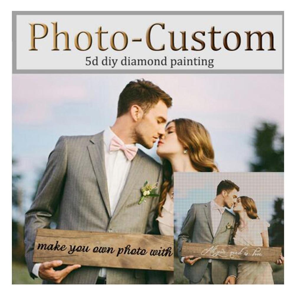 ZOOYA foto personalizado diamante del bordado de hacer su propio 5D DIY diamante pintura Cruz puntada completo Square taladro de diamantes de imitación mosaico AZ1