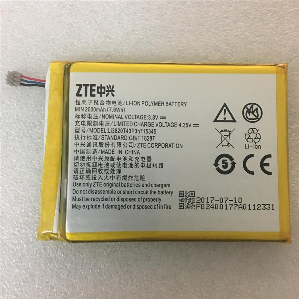 Original 2000mAh Bateria Para ZTE Grande S Flex LI3820T43P3h715345/Para ZTE MF910 MF910S MF910L MF920 MF920S MF920W + bateria
