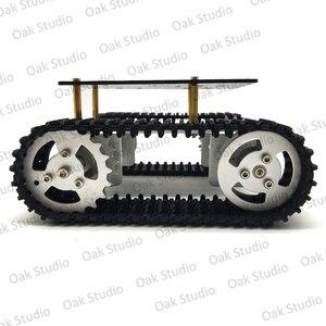 Image 2 - מיני T10 חכם טנק רכב שלדת במעקב קטרפילר Crawler רובוט פלטפורמת לdiy Arduino