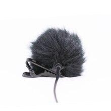 Fourrure artificielle pare brise pare brise coupe vent pour revers Lavalier Microphone Mic