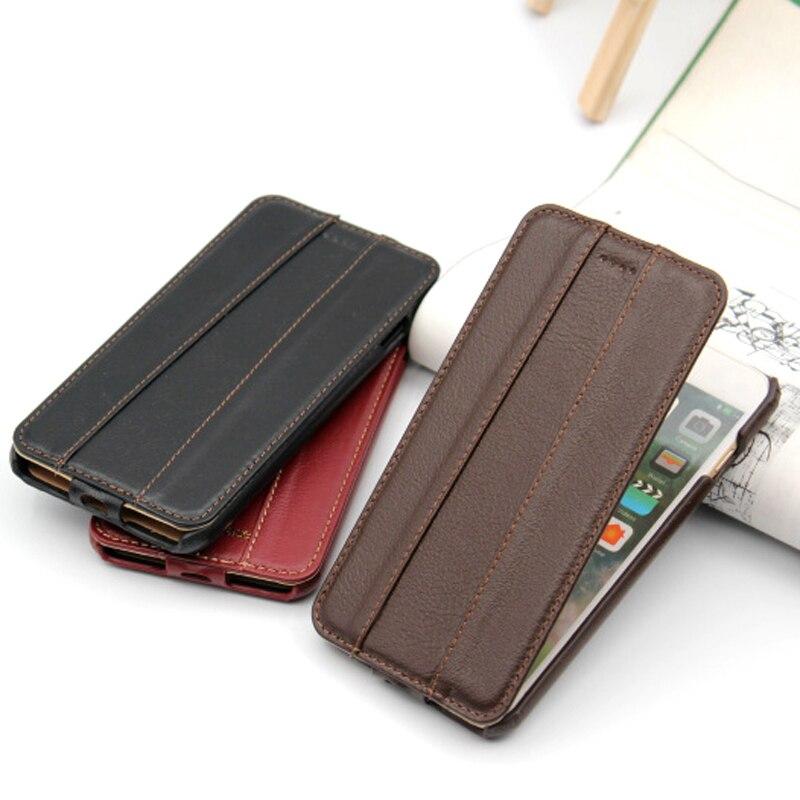 JOVANI Brieftasche Stil Flip Echtem Leder Telefon Fall Für iPhone 7 8 Plus 7 Plus 8 Plus Echt leder Luxus zurück Abdeckung Fällen & tasche
