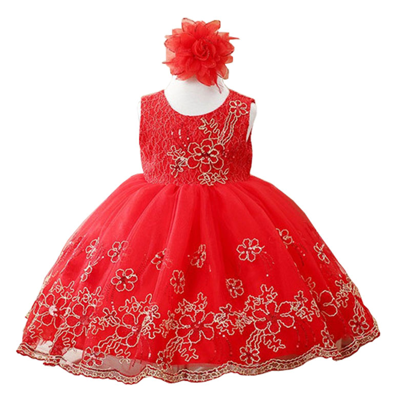 Girl Dress Party Birthday wedding princess Toddler baby