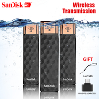 SanDisk USB Flash Drive SDWS4 WiFi Connect Wireless Stick USB 2.0 PenDrives 16GB 32GB 64GB 128GB 200GB Storage card Stick