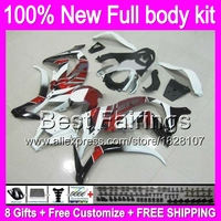 Fairing For KAWASAKI Red White Black NINJA ZX 10R ZX10R 4B45 Injection ZX 10R Gloss Red