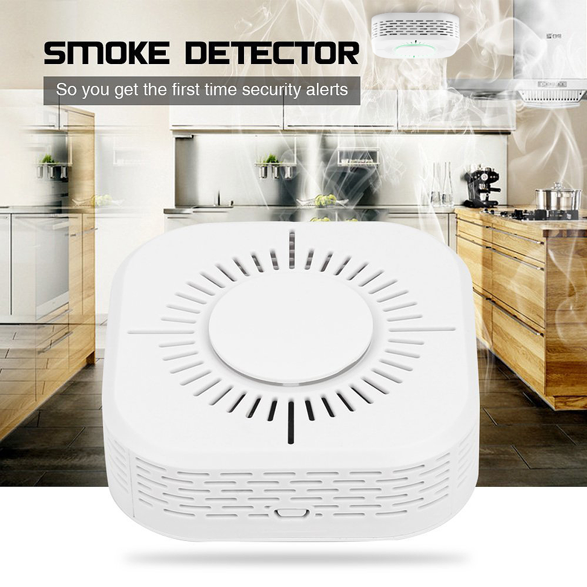 Kitchen Smoke Detector Cheap Wireless Remote Alarm Universal Sensor System For Restaurant Hotel Home Security In From