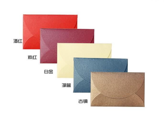 50 шт./лот ручной работы мини конверты старинные цветные Pearl пустой бумажный конверт Свадебное приглашение в конверте Рождественский подарок конверт