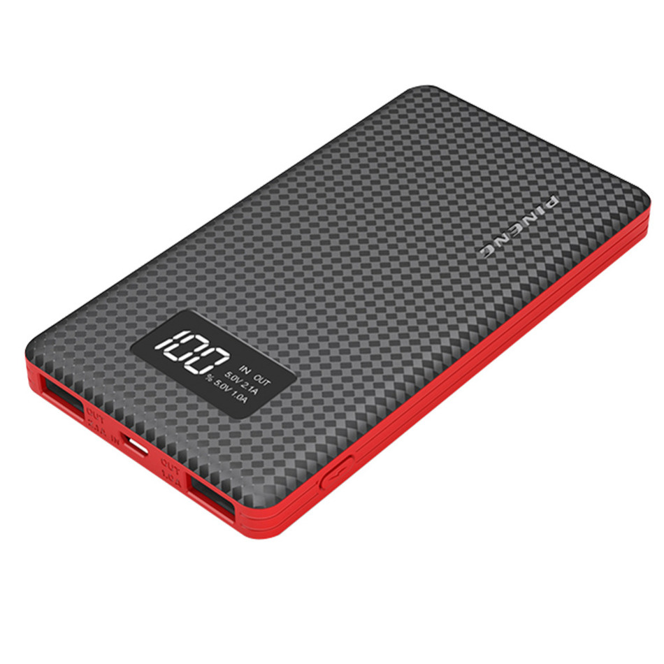 External Battery mAh LCD Screen Portable Battery Mobile Power Bank USB Li