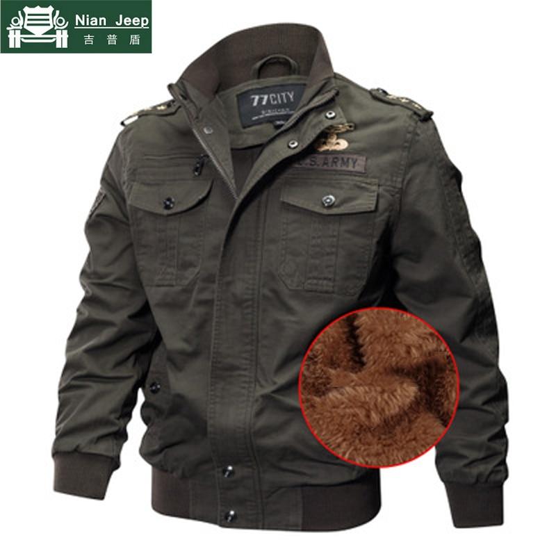98faaf30 2018 chaqueta militar gruesa de invierno para hombre, chaqueta de lana,  chaqueta Masculina, talla grande, M-6XL chaqueta de piloto, chaquetas de  bombardero ...