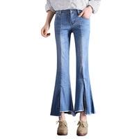Oversized Wide Leg Jeans Woman Plus Size Bell Bottom Jeans For Women Boyfriend Jeans Cropped Split Ladies Boot Cut Denim Pants