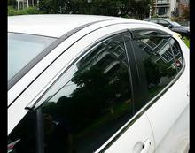 Для Peugeot 408 2009 2010 2011 2012 2013 2014 chrome газа Окно Ветер Дефлектор Козырек Дождь/Вс Гвардии Vent vent
