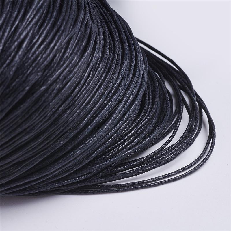 0 7 2mm Black Chinese Waxed Cotton Cord Thread String Strap Wire Jewelry Findings for Jewelry Making DIY about 350m bundle in Jewelry Findings Components from Jewelry Accessories