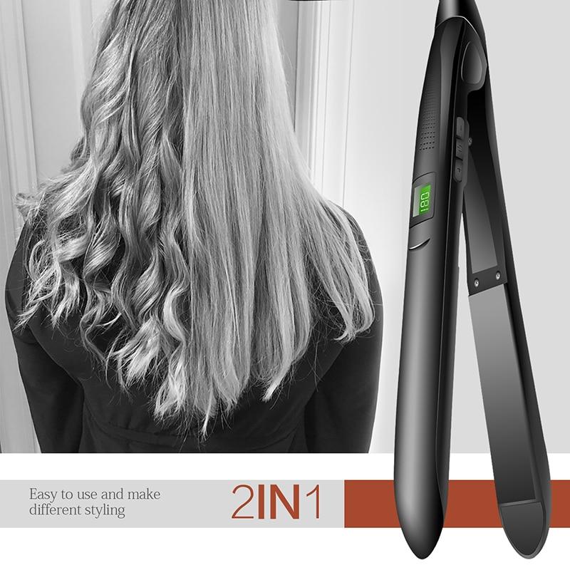 Ceramic Coated Heating Plate Hair Straightener Fashion Wand Magic Styling Iron Ceramic Hair Straightener Electric Hairstyle