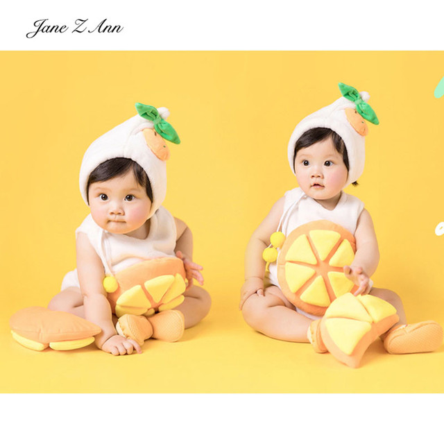 Jane Z Ann Baby orange fruit costume infant 3-6 month photography props  boys girls studio picture shooting clothing 4cd443c55f1f