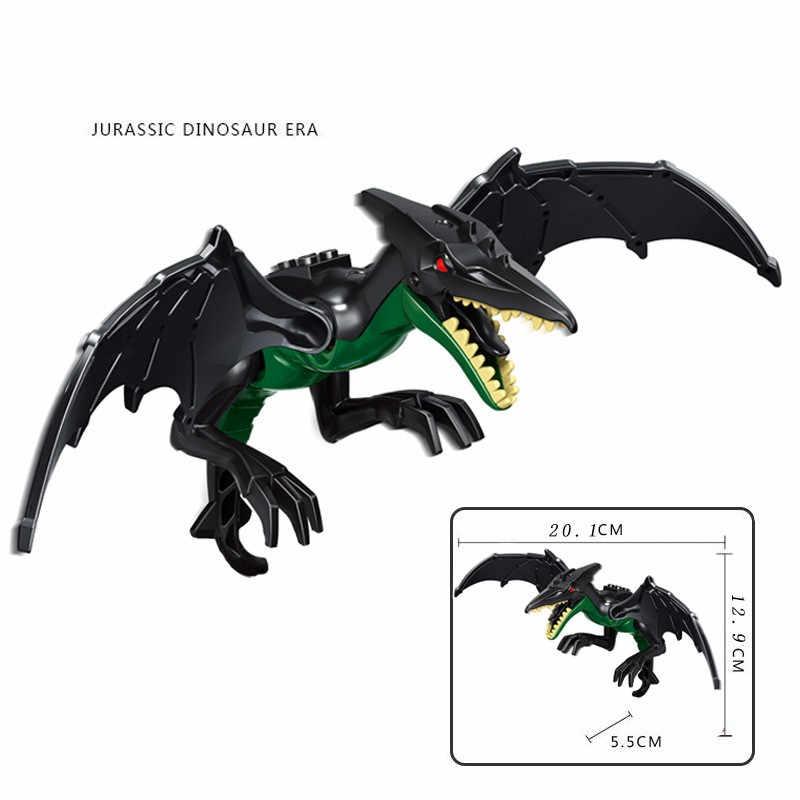 العالم الجوراسي الديناصورات أرقام كتل ألعاب مكعبات الديناصور ريكس Indominus ريكس I-ريكس تجميع لعب الاطفال Dinosuar