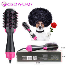 Hot Hair Dryer Brush Negative Lonic Straightener brush Eliminate Frizzing Curler Curling Iron Blower Comb