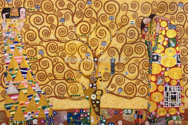 Portrait Art Oil Painting Canvas Gustav Klimt Reproduction For Living Room The Tree Of Life High