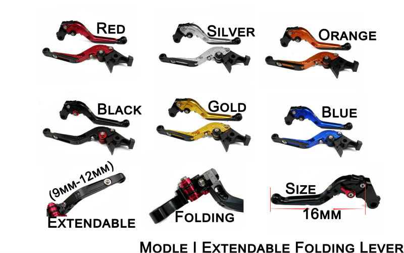 ФОТО Fit For Kawasaki ZX-6 W800 SE NINJA 650R VERSYS 650 ZZR600 ZX9R ZXR400 Motorcycle Brake Clutch Levers Folding Extendable