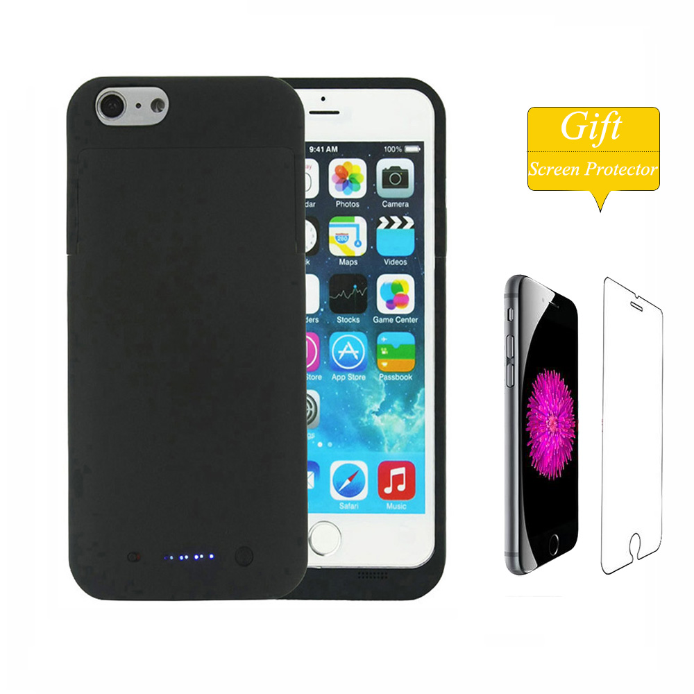 Цена за Для Apple iPhone 6 6S Батарея случае 3800/6800 мАч ультра тонкий резервного Зарядное устройство чехол для Apple iPhone 6 plus 6S плюс Смарт Мощность Банк