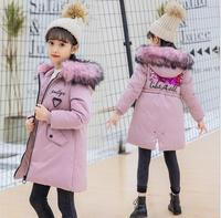 Fashion Children kids cotton Jacket Winter Jacket For Girls Thick Down Kids Outerwears For Girl clothing parka Warm Coat casaco