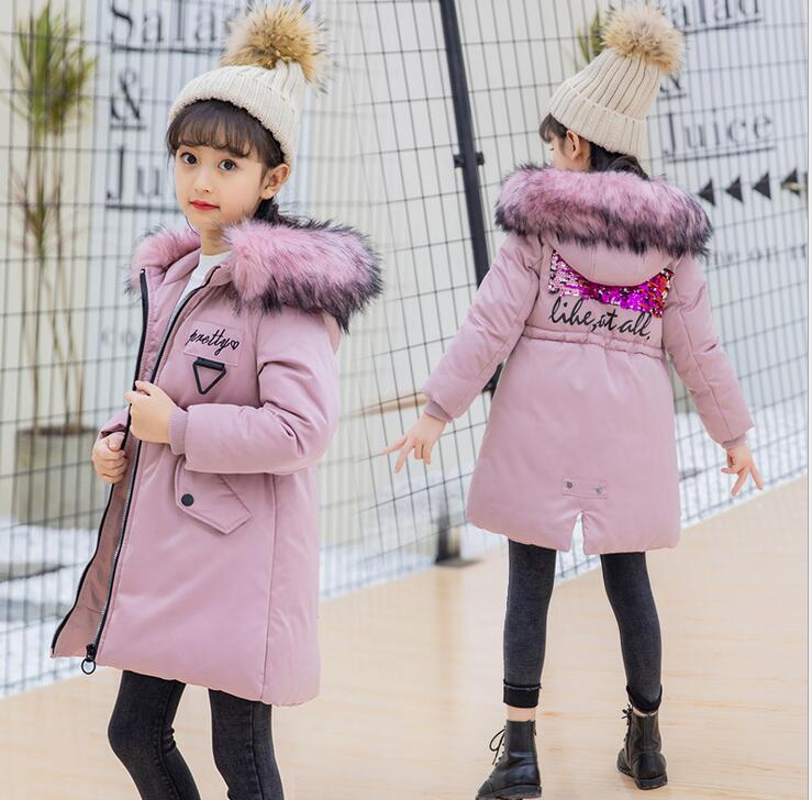 Fashion Children kids cotton Jacket Winter Jacket For Girls Thick Down Kids Outerwears For Girl clothing parka Warm Coat casaco new thick winter jacket women fashion padded coat mujer double collar overcoat parka wadded casaco feminino female jacket c911