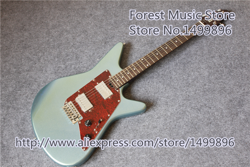 New Arrival Metal Blue Ernie Ball MusicMan Albert Lee HH Electric Guitar With Rosewood Fingerboard For Sale