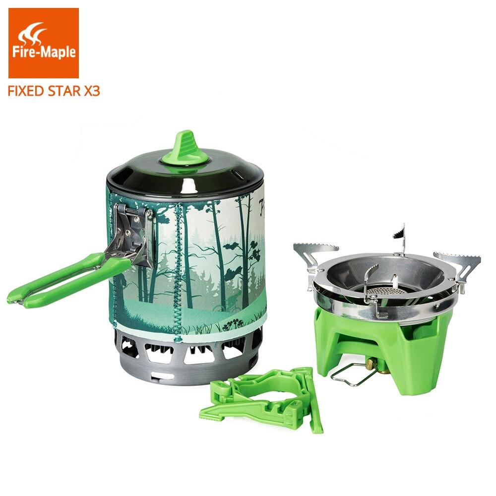 Brûleurs à gaz de Camping en érable feu système de cuisson en plein air 2200 W 0.8L 600g avec FMS-X3 de cuisinière à gaz à allumage piézo-électrique - 2