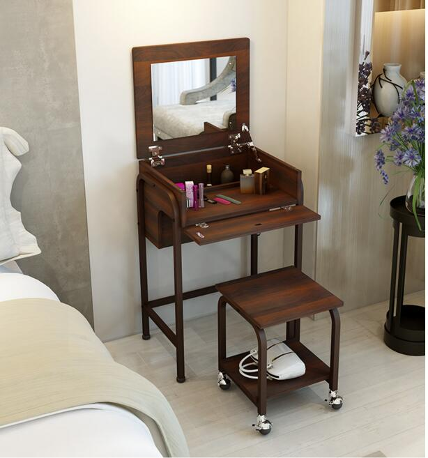 Contemporary and contracted combination dresser.. Flip make-up tank. The bedroom dressing table dresser small family dresser and desk the bedroom clamshell economical multifunctional table