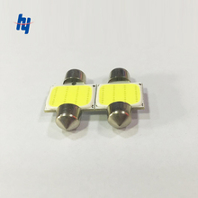 500Pieces/lot Free Shipping High Power Festoon COB 31MM / 36MM /39MM / 41MM 1.5W 12V Dome Lamps Indicator Light White Bulbs