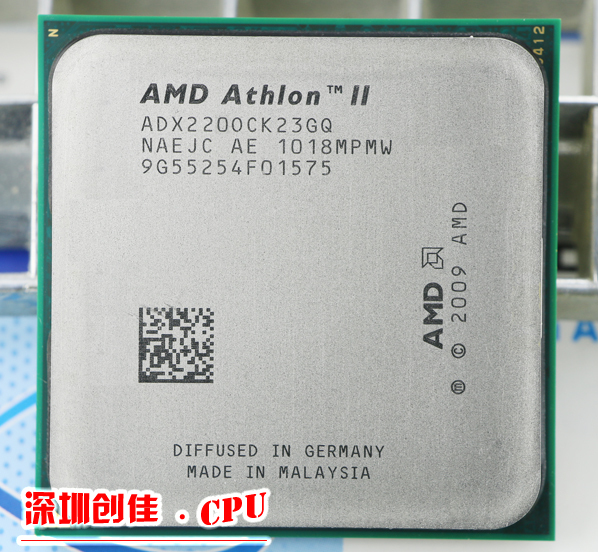 AMD CPU Athlon II X2 220 CPU 2.8 GHz Socket AM2 +/AM3 938PIN dual-core 65 w processeur scrattered pièces