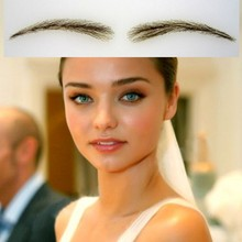 2016 Promotion Time-limited Long-lasting Easy To Wear Natural Full Size 01 Human Hair Eyebrows/ False Eyebrows /fake
