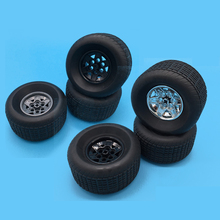 2Pcs/Lot Technic Part 18450 Tyre 81.6 x 44 R & PART 56908 Wheel 43.2 26 Racing Small with 6 Pinholes Blocks Brick Toys