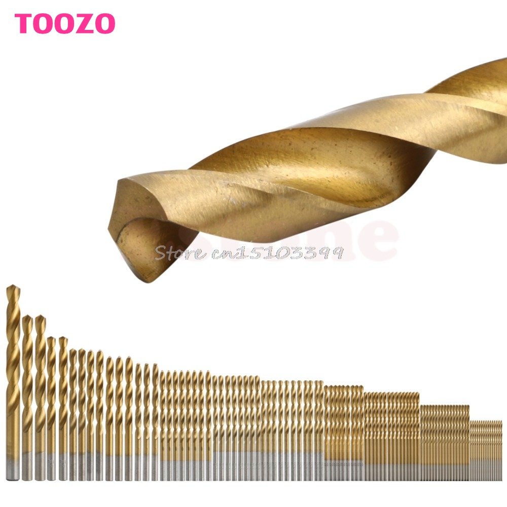 98Pcs 1.5MM-10MM Titanium Coated Metal HSS High Speed Steel Drill Bit Set Tool #G205M# Best Quality kcchstar the eye of god high quality 316 titanium steel necklaces golden blue