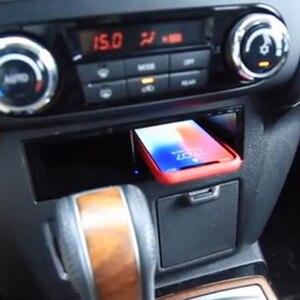 Image 1 - Автомобильный аксессуар для Mitsubishi Pajero 2017 2018, 10 Вт, мобильный телефон, беспроводное зарядное устройство QI, адаптер для телефона, зарядный чехол, держатель для телефона