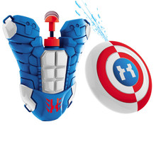 Jongen Jongen Rugzak Waterpistool Power Ranger Outdoor Combat Armor Armor Shield Waterpistool Combinatie Lanceert Waterpistool Speelgoed(China)