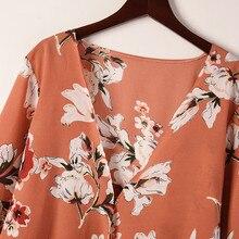 Floral Print kimono cardigan RK