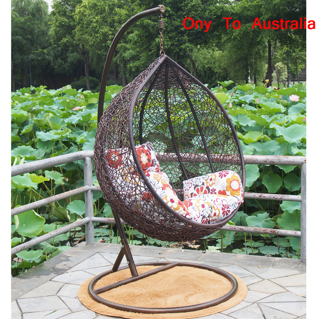 hanging chair outdoor australia pink cushions ony to brand new top quality garden pe rattan egg indoor swing 4 colors