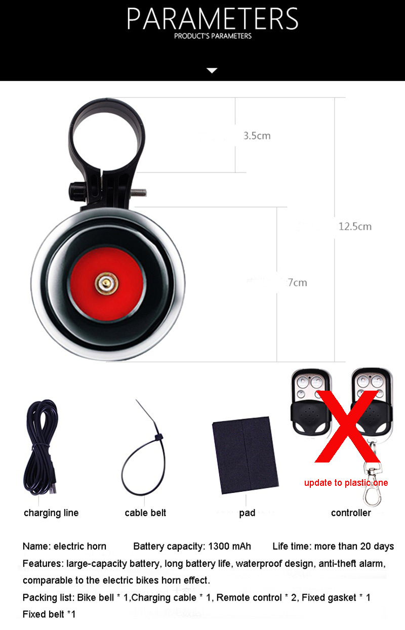 Usb Charging Bicycle Bell Electric Horn With Alarm Loud Sound Large Klakson Sepeda 20181013144809 5a47699e2b0a1c32cf6666aa 7 Original
