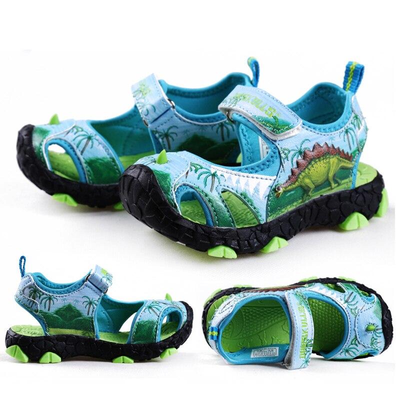 Kids Boys Sandals Unicorn Shoes Boys Summer Dinosaur Sandals Fashion Kids Beach Shoes Sandales Garcon 2019 Nouveau Size